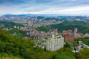 Taipei view from Maokong Gondola