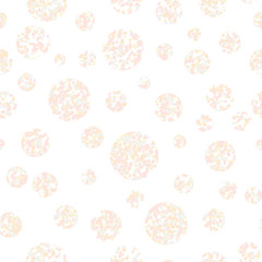 Pastel colored circles. Seamless pattern. Abstract texture. Simple background. Round elements. For wallpaper, pattern fills, web-page backdrop.