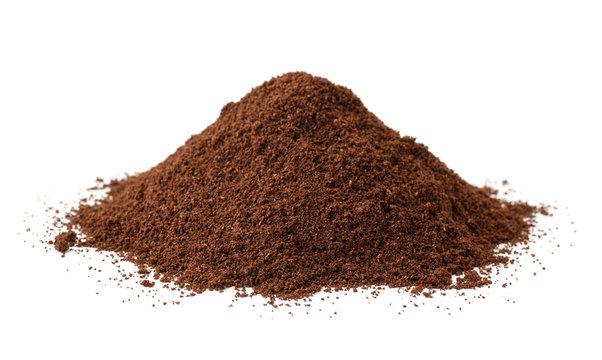 Pile of  ground coffee