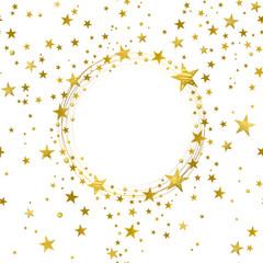 Round Banner of Gold Stars
