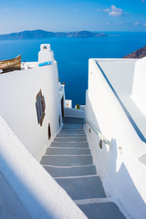 Famous Santorini island in Greece