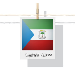 African country flag collection with photo of Equatorial Guinea flag , vector , illustration