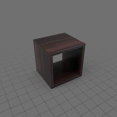Single square bookshelf