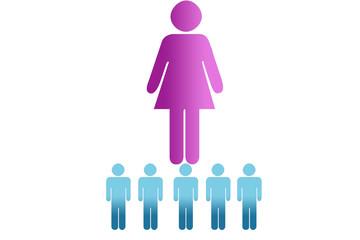 Igualdad de la mujer en el trabajo.