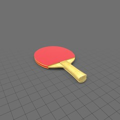Wooden ping pong paddle