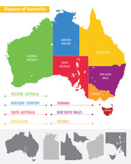 Map of the regions of Australia
