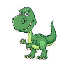 Vector illustration of Dinosaurs cartoon, Isolated on white background.