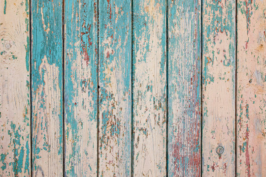 Wooden vertical texture of turquoise Colors, shabby wooden surface. Old texture for antique background Old texture for antique background