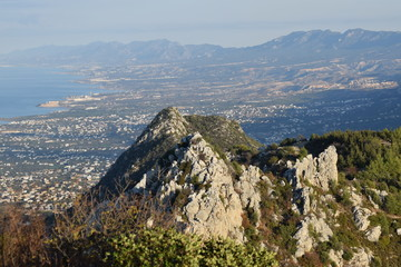 view of the mountainous landscape of Cyprus