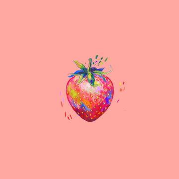 Illustration of strawberry fruit