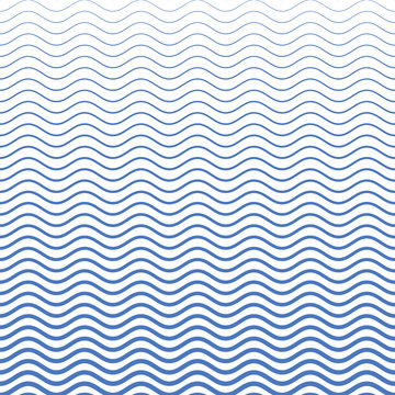 Blue wave pattern. Vector