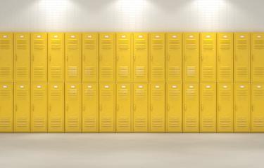 Yellow School Lockers
