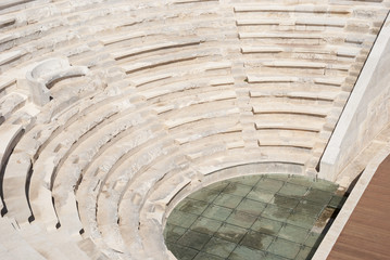 Amphitheater in the ancient city of Patara. Turkey, Mugla Province