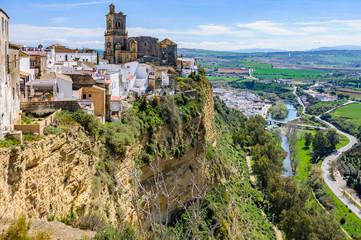 Church on the rock in Arcos de la Frontera, Spain
