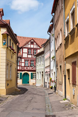 Street of historic German town of Bamberg