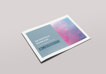 20 Page Portfolio Brochure with Blue-Gray Accents