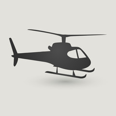 Helicopter icon isolated on light background. Modern flat pictogram, business, marketing, internet concept.