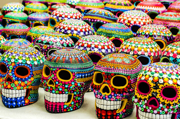 traditional tattooed Mexican skulls