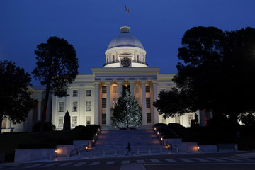 The Alabama State Capitol building is pictured in Montgomery, Alabama