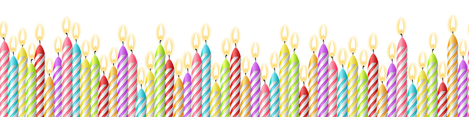 Geburtstag Kerzen Hintergrund Muster nahtlos isoliert