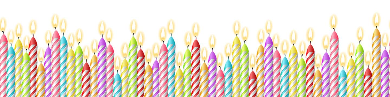 Geburtstag Kerzen Einladung Hintergrund Muster nahtlos isoliert