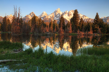 Teton Sunrise, Wyoming, USA.