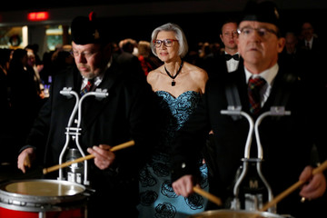 Canada's outgoing Supreme Court Chief Justice McLachlin arrives for a gala in her honour in Ottawa