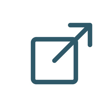 Logout or Exit Icon with Arrow and Box to Show Leaving Site
