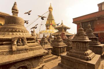 Swayambhunath stupa in Katmandu Nepal