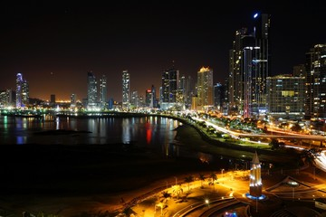Night View of Panama City, Panama