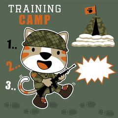 Funny soldier cartoon