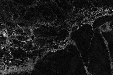 Black marble floor patterned for background texture.