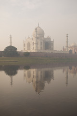Taj Mahal in the fog