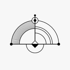 Abstract geometric shape.
