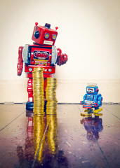red robot two money