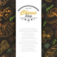 Vector background with cheese products