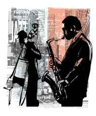 Wall Murals Art Studio Jazz in New York