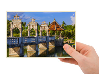 Hand and Water Palace in Bali Indonesia (my photo)