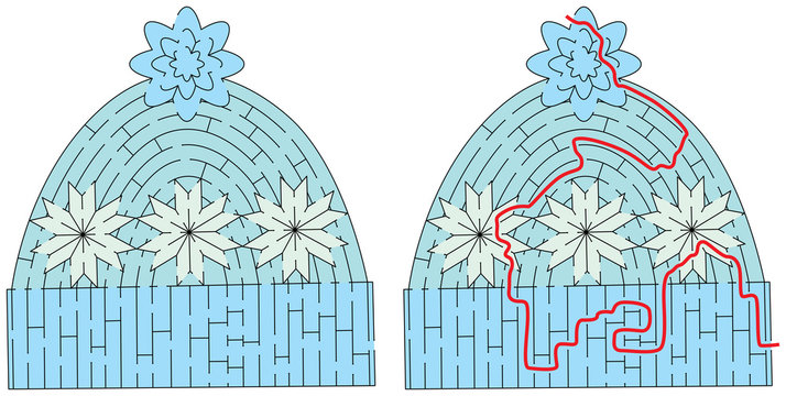 Winter cap maze