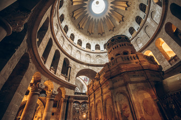 Interior of the Church of the Holy Sepulchre in Jerusalem, Israel Wall mural