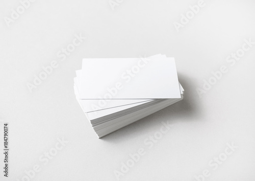 Photo of blank business cards stack on paper background studio shot photo of blank business cards stack on paper background studio shot colourmoves