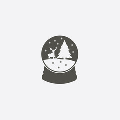 Snowglobe icon simple vector illustration