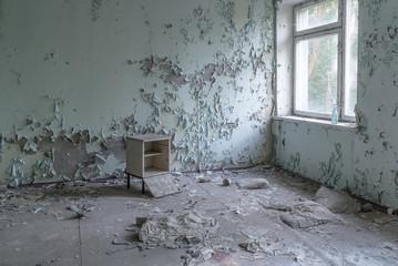 Empty room in Chernobyl. Wall mural