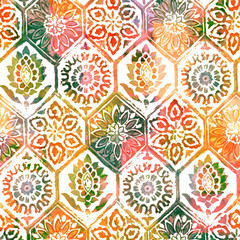 Watercolor texture repeat modern pattern