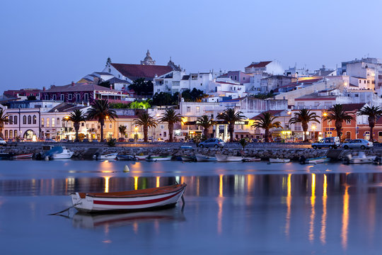 Lagos at dusk, Algarve, Portugal