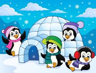 Happy winter penguins topic image 3