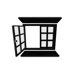 Window icon. Vector Illustration