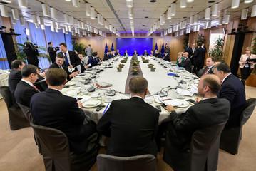 European Union leaders attend a summit in Brussels
