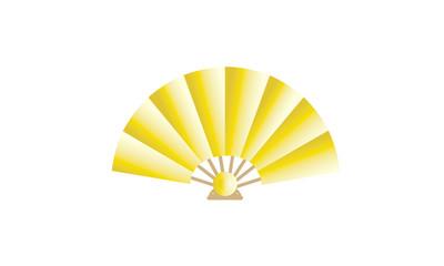 Traditional golden hand fan
