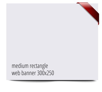 Web banner 300x250 template with ribbon